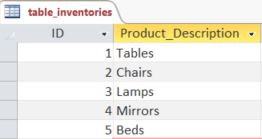 Access Example Inventory