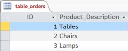Access Example Orders