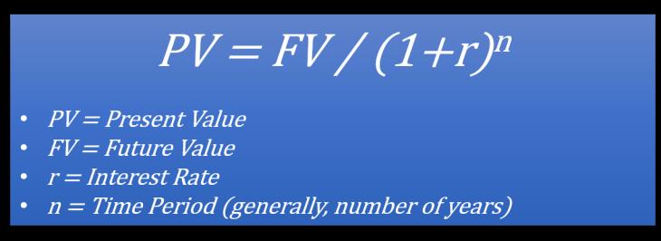 Present Value Formula2