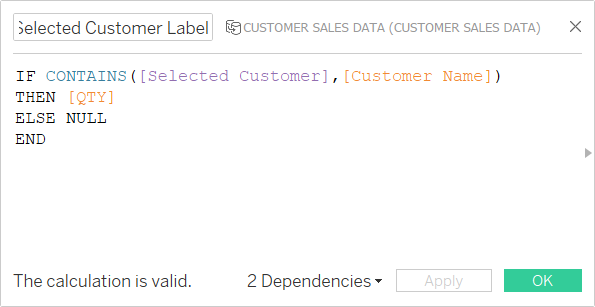 Tableau Concat Calc Field Label